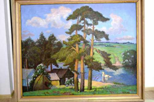 Открытие выставки памяти могилевского художника В.Н.Шпартова