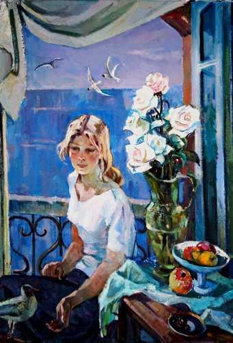 """Кудревич Р. В. """"У озера"""", 1990 г."""