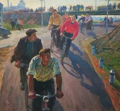 """Пасюкевич В. М. """"Велогонки"""", 1981 г."""