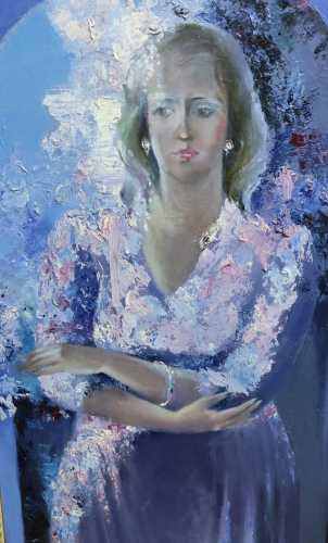 """Кононова Г. Н. """"Портрет современницы. Мечта"""". 1988 г."""