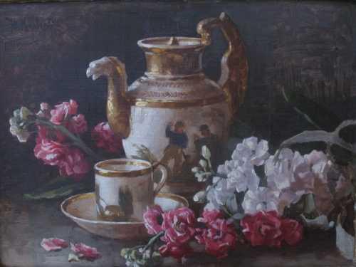 """Клевер Ю. """"Цветы и фарфор"""", 1939 г."""